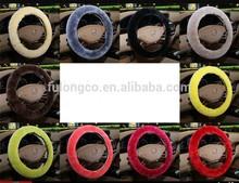 China factory sheepskin Universal size 38cm car steering wheel cover,36cm,40cm,45cm