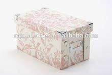 Sweet pink flowers printing foldable box wedding invitation