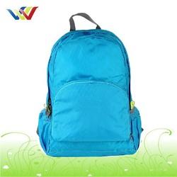 Blue Lightweight Foldable Backpack For Travel