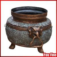 Chinese Antique Bronze Demon Bird Beak Vase For Sale