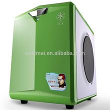 PC CASE WITH Speaker/amplifier handle computer mini Case