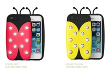 Korean 3D Lighting Up Bug beetles Phone Case For iphone 5 5S 5G,Cute Animal Phone Case