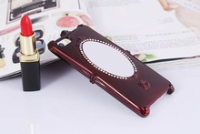 Luxury Rose Mirror ABS Mobile Phone Case For Iphone5s/5c/4,Cell Phone Case With Mirror