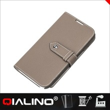 QIALINO Classic Style Fashion Designs Cow Leather Decorative Cell Phone Cases For Galaxy For Note