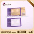 3x tarjeta de crédito diseño de lente de fresnel lupa con 8 cm longitud de la escala