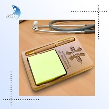 Factory directly supply cheap custom mdf wood pen and note holders for gift