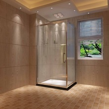 square cheap concealled sliding shower door fixed wall