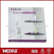 corner floating half round glass mounting shelf kits