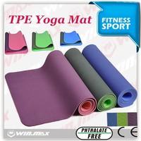 2015 hot sale TPE yoga mat with carrying bags/yoga mats cheap
