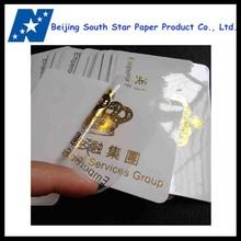 custom golden hot stamped stickers