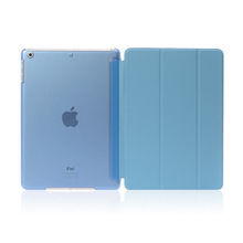 Light blue water paste injection whole PC PU cover for ipad mini case custom