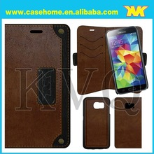 Retro Leather For Samsung Galaxy S6 Case, For Galaxy s6 Wallet Case Magnet Detechable Mobile phone Case Wholesale