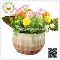 wholesale folk art hyacinth flower basket big size