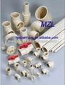 Plástico pvc cpvc tubos
