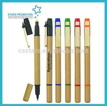 promotional click gift ballpoint pen; paper pen; ballpoinet pen with soft grip