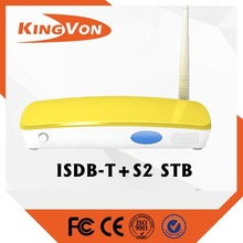 digital tv set top box for DVB-T2+ISDB-T standard with free sample to test