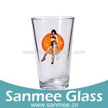 Fashion Glass Bettie Logo Decal Tumbler Round Bottom Glassware