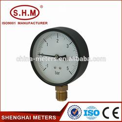 Black steel bourdon tube different type of pressure gauge