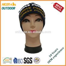 Shanghai Hicon Custom Patch Cap Hat Long Acrylic Beanie Knit Hat Winter Hat