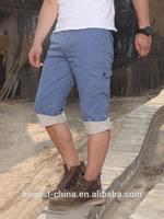 2015hot men classic canvas cargo garment wash Bermuda