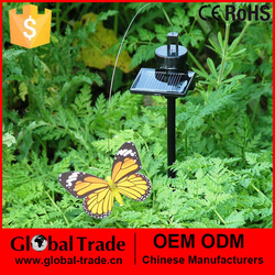 Solar Powered Fluttering Flying Red or Yellow Garden Butterfly Very Life Like H0019