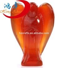 Beautiful Carnelian Pocket Angel, Crystal Energy Healing Stones, Guardian Angel Mini Figurine Statute Ornament