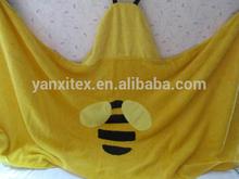 Coral fleece handmade baby blankets/plain fleece baby blanket for sale