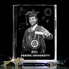 3D Laser Engraved Crystal graduation souvenirs gifts