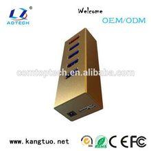 usb 3.0 hub 4 port usb hub with LED director from Shenzhen Aotech