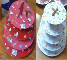 promotion sale corrugated paper cupcake display stand shelf
