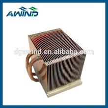 aluminum soldering heatsink with black anodized for housing