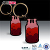 Factory wholesale rubber custom keyring