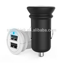 Wholesale portable dual usb car charger 2.4Amps 12W Dual Port