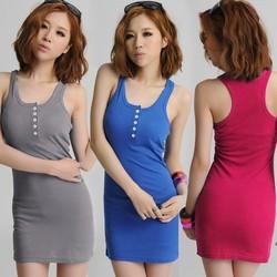 New Casual Sleeveless Summer V- Neck girls sexy night dress 3693