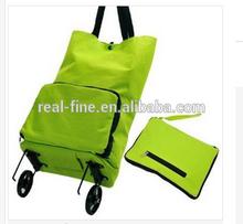 Portable folding shopping cart car oxford fabric travel luggage bag shopping bags
