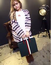 Fahion model lady PU big designer tote bag