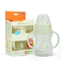 2015 BPA free baby bottle warmer baby nursing bottle anti-slip baby milk glass bottle protective cover