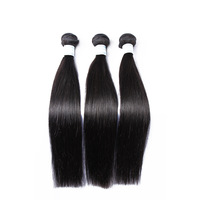 3 Pcs A Lot Hot Free Shipping 20 Inch Virgin Temple Indian Hair Extensions