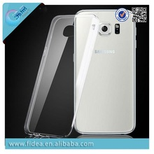 2015 100% soft tpu transparent clear case for samsung s6 crystal clear case