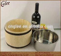 beer custom wooden ice bucket for sale
