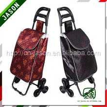 luggage cart trolley polyester four wheel shopping trolley bag
