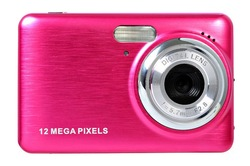 12mp digital camera with 2.7'' TFT display and 4x digital zoom and rechargeable lithium battery camera