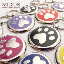 "Die-casting zinc alloy dog pendant tags paw design 1.125"" 15g"