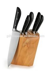 FDA/ LFGB Approval Stainless steel kitchen knife set knife block