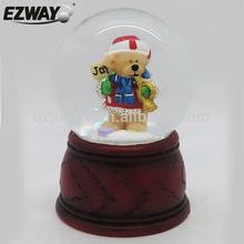 Resin & glass snow globe christmas ornament crafts christmas wedding favors snow globe