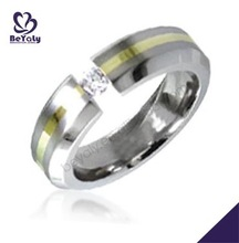Best price clear cz inlaid for men stainless steel ring setting