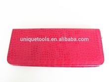 Red color Hair scissor leather case for pet scissors