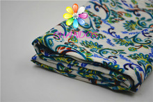 Style phoenix flower and 100% Rayon dobby printed fabric for garment