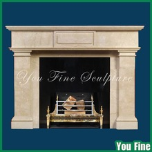 Cream Indoor Lowes Marble Fireplace Surrounds