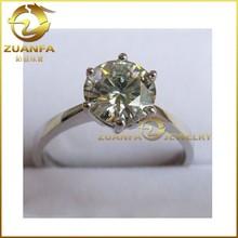 good quality 925 silver wedding rings round brilliant cut moissanite diamond rings